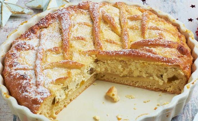 Венский пирог с творогом. Пирог из простого песочного теста без яиц.