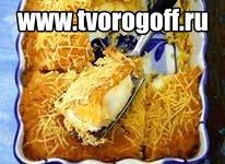 Яйца вареные сыр, молоко, лук запекаем. Запеканка яичная в духовке.