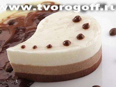 Творожный шоколадный мусс с молоком и сметаной