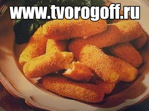 Картофельные колбаски сыр, яйцо, мука жареные. Закуска или гарнир.