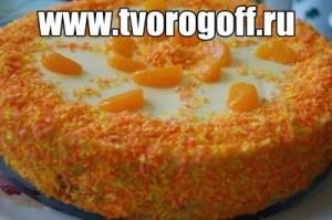 Торт мандариновый на простокваше с маслом сливочным