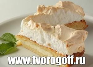 Торт Творожный с запеченным белковым кремом