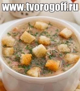 Суп-пюре из фасоли овощной бульон из кореньев