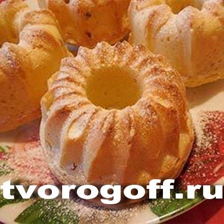 Небольшие кексы из творога с маслом сливочным. Кексы творожные.
