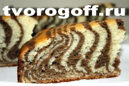 Сметанный торт, полоски, масло сливочное. Торт Зебра на сметане.