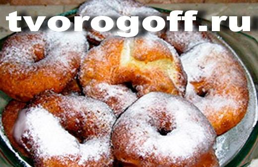 Творожные бублики из простокваши, во фритюре. Пончики из творога.
