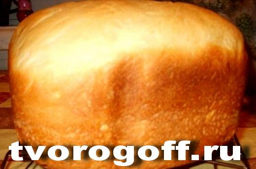 Творожный хлеб на молоке дрожжевой с яйцом