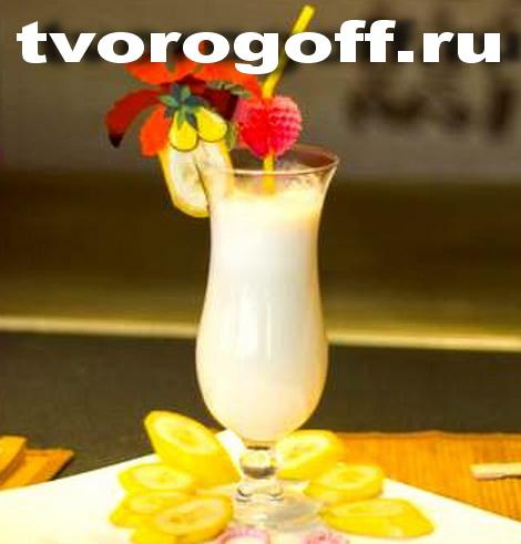 Напиток из молока Лимончик сладкий, дома