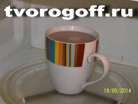 Напиток из молока Какао дома с песком сахарным