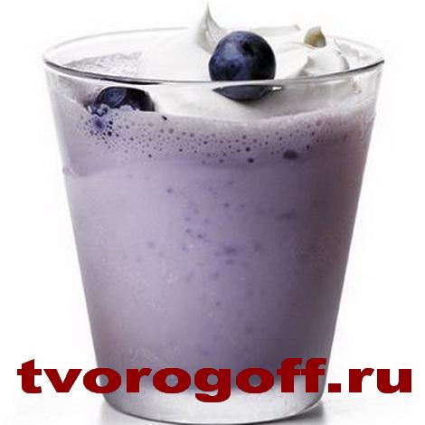 Напиток из молока «Чернично-кремовый», дома