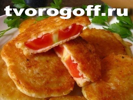 Сырный кляр для жареных помидор, паприка, чеснок