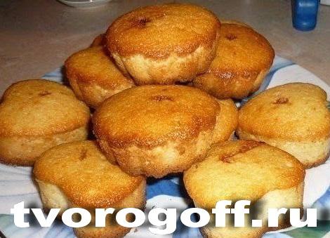 Кефирные кексы из манки