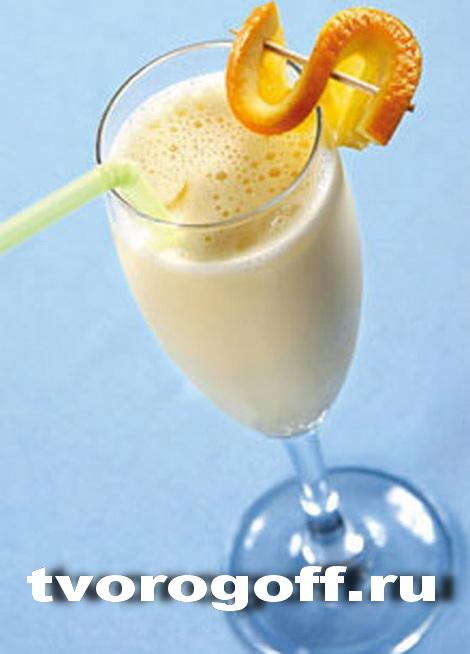 Напиток из молока «Апельсиново-желтковый», дома