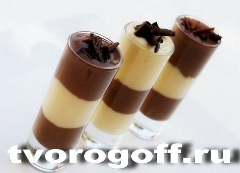 Молочный, шоколадный пудинг
