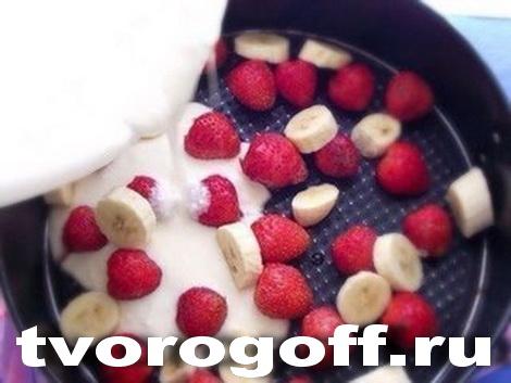Десерт «Фруктинка» из творога со сметаной2