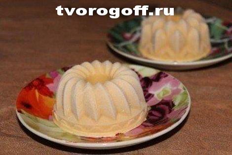 Десерт «Крем-брюле» с творогом, сгущенкой, мороженный