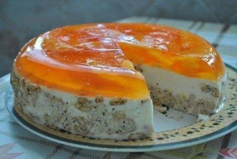 Сметана в торте «Оранж», без выпечки