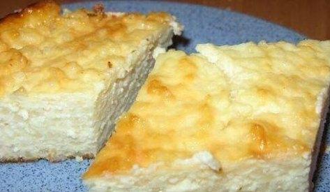 Запеканка «Творожно - рисовая» со сметаной