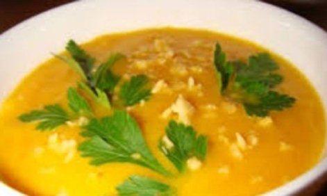 Молочный суп-пюре со сладким перцем, плавленым сыром