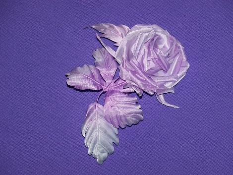 Цветы из натурального шелка, ручная работа