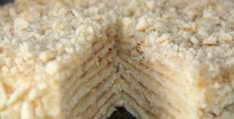 Торт быстрый сгущенка, молочный крем, ванилин