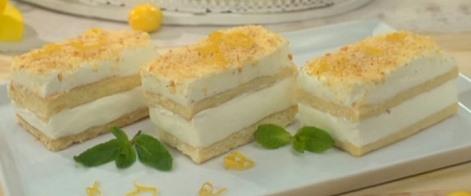 Пирожные лимонные сметанные, заливка, крем. Тесто сметана, масло.