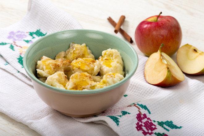 Галушки с яблоками. Вкусный завтрак для детей и взрослых.