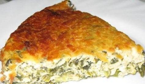 Запеканка из соленого творога зелень. Вкуснейший завтрак.