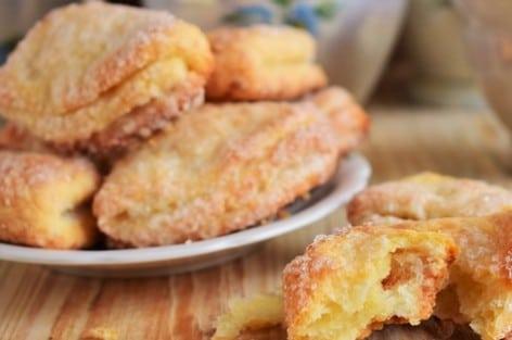Слоеное творожное печенье рецепт. Хрустящая корочка, нежная суть.