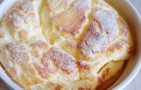 Кефирный пудинг рецепт. Воздушный десерт на завтрак.